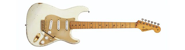 Fender David Gilmour Blanca 0001