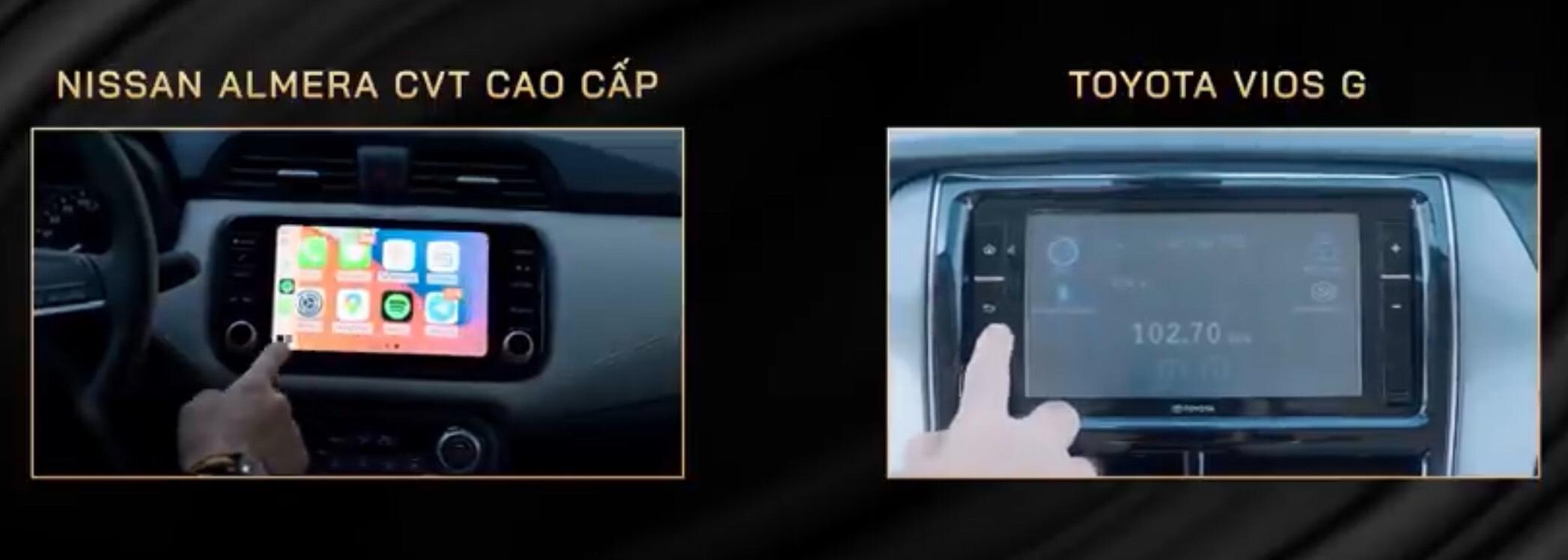So sánh Toyota Vios và Nissan Almera 2021 về giá bán, trang bị tiện ích. 17