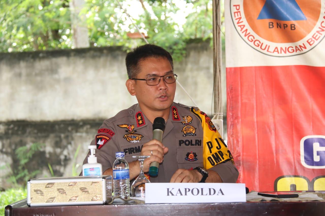 Kapolda Jambi Hadiri Rapat Penanganan Covid-19 Provinsi Jambi di Kantor BPBD Provinsi Jambi