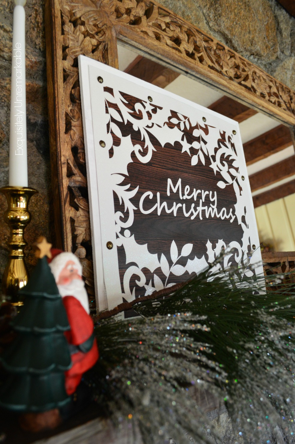 Wooden Christmas Sign Easy DIY