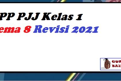 RPP Daring Kelas 1 Tema 8 Format Selembar 2021