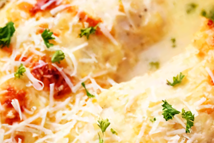 Creamy Baked Chicken Asiago