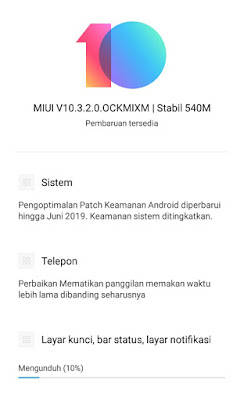 Upgrade MIUI 10.3.2.0 Smartphone Xiaomi