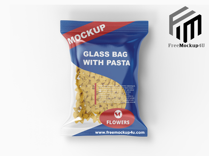 Plastic Bag With Pasta Mockup Psd Template