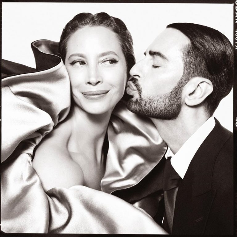 Christy Turlington gets a kiss from Marc Jacobs with the designer's fall-winter 2019 campaign