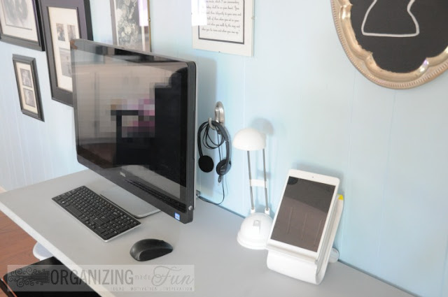 Now it's neat and tidy - no more messy cords! Find out how to do it :: OrganizingMadeFun.com