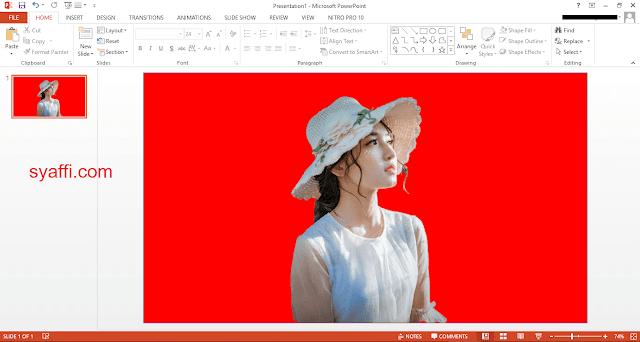Cara Mengganti BACKGROUND FOTO dengan Warna Biru dan Merah menggunakan POWER POINT