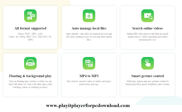 Features of PLAYit for PC