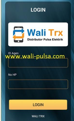 Fitur Transaksi Via Aplikasi Android Wali Trx
