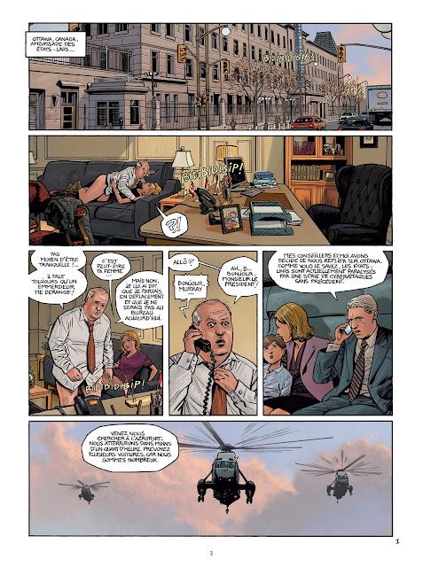 """page de """"Cyberwar T2 Chaos"""" de Pecqueur et Denys chez Delcourt"""