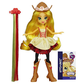 MLP Equestria Girls Rainbow Rocks Rockin' Hairstyle Applejack Doll