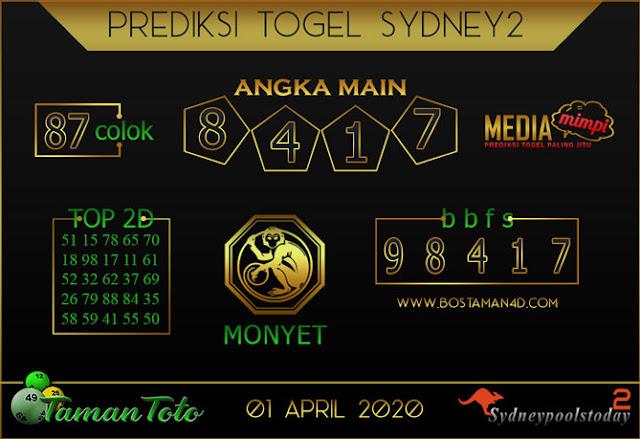 Prediksi Togel SYDNEY 2 TAMAN TOTO 01 APRIL 2020