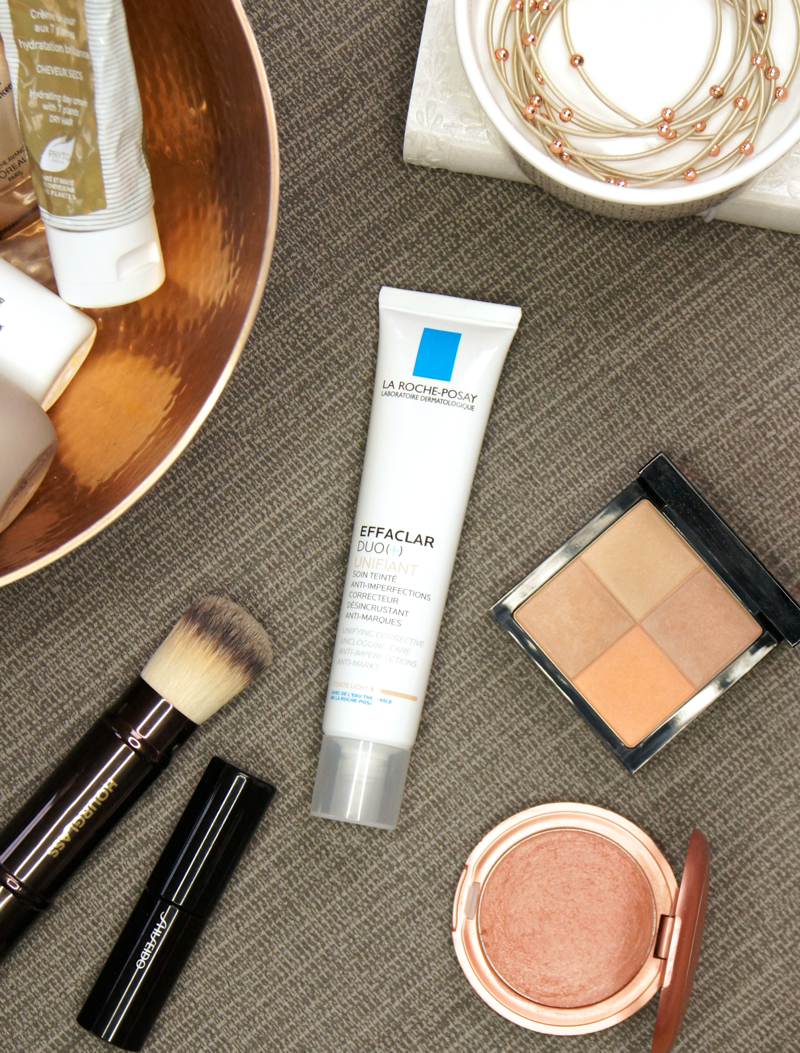 la roche posay effaclar duo + unifiant review swatch fair light shade