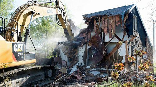 Image Asbestos House Demolition