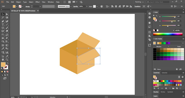 3D Box in Adobe Illustrator