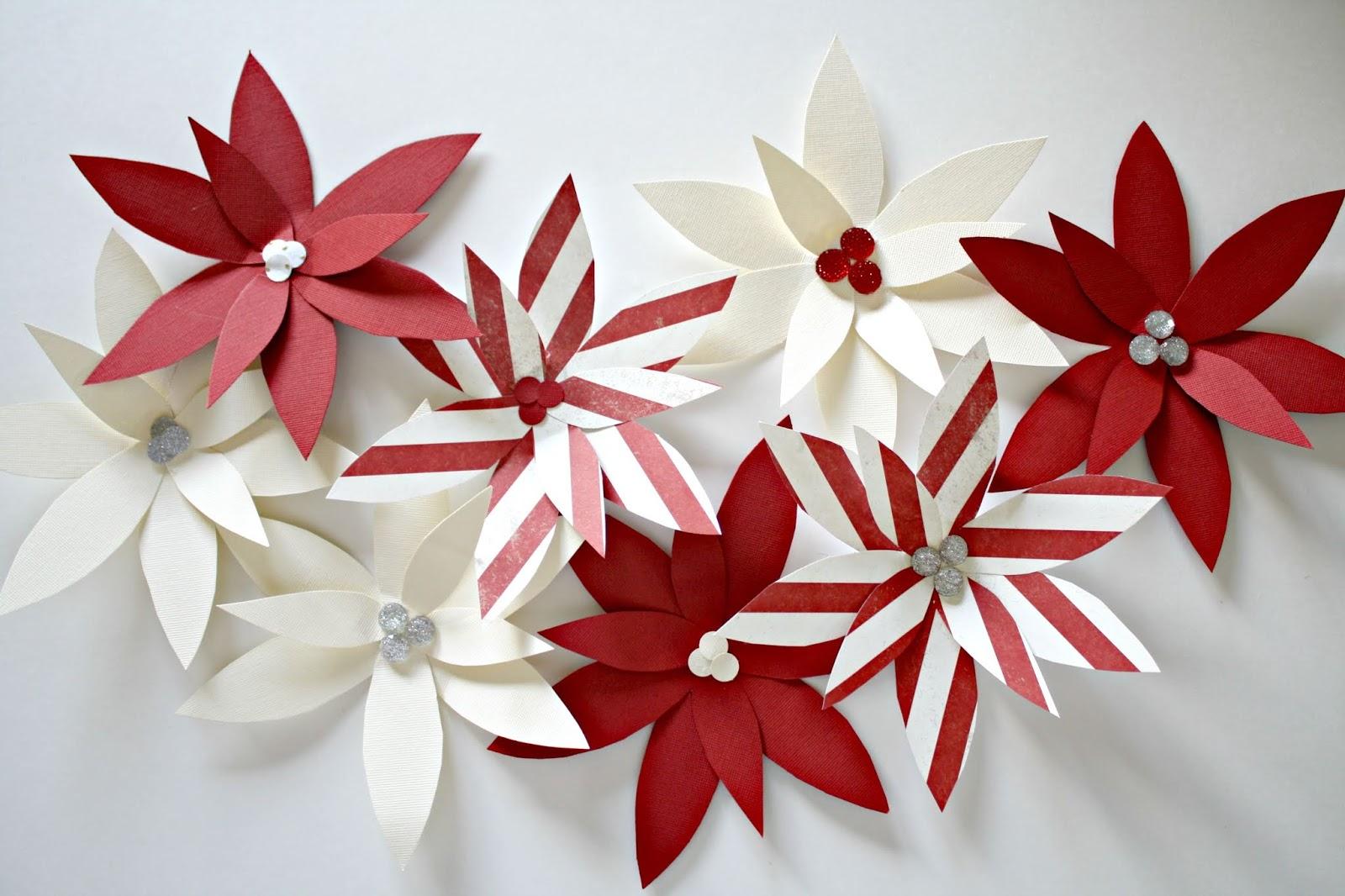 pretty paper poinsettia flower art