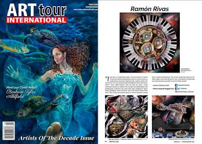 Ramón Rivas. Artista de la Década en la revista ArtTour International