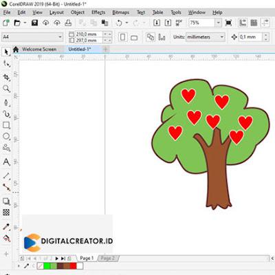 cara-membuat-pohon-literasi-digital-dengan-corel-draw