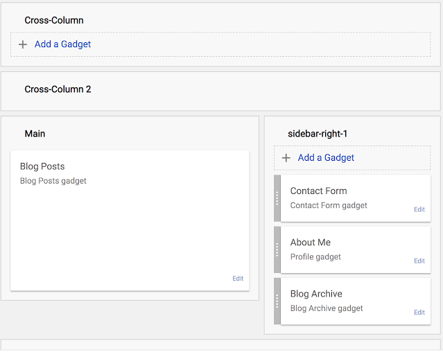 contact form widget selecting in the blogger dashboard - logicbrace