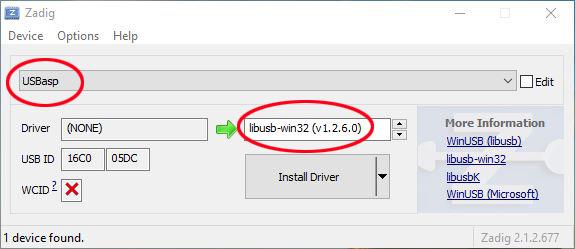 [TUTO] Mise à jour firmware module multiprotocole BG 4 en 1 ATmega328p - Page 8 Zadig-ecran
