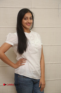 Tollywood Telugu Actress Mouryaani Latest Stills in Ripped Jeans at Intlo Deyyam Nakem Bhayam Movie Interview  0008.JPG