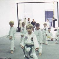 Martial arts kids doing blocks