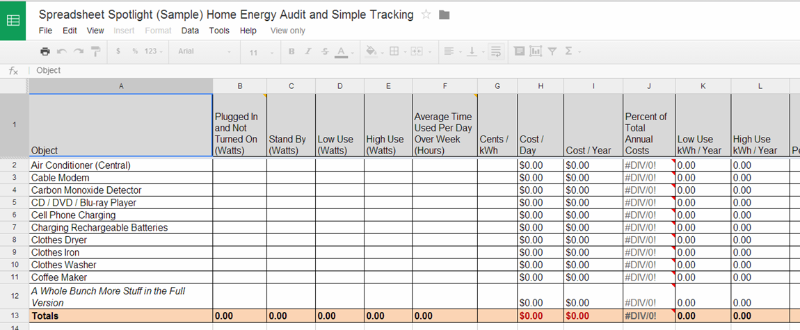 Printables Audit Worksheet Template excel spreadsheets help may 2014 source httpvalueofsimple comspreadsheet spotlight intro home energy audit and simple tracking