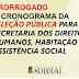 Prefeitura prorroga prazos do cronograma para Seleção Pública Simplificada da SDHAS