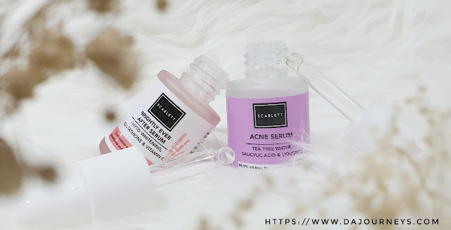 Review Scarlett Whitening Brightly Ever After Serum dan Acne Serum