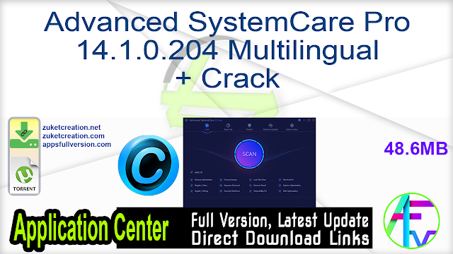 Advanced SystemCare Pro 14.1.0.204 Multilingual + Crack