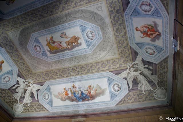 Affreschi sul soffitto del Castello Reale di Govone