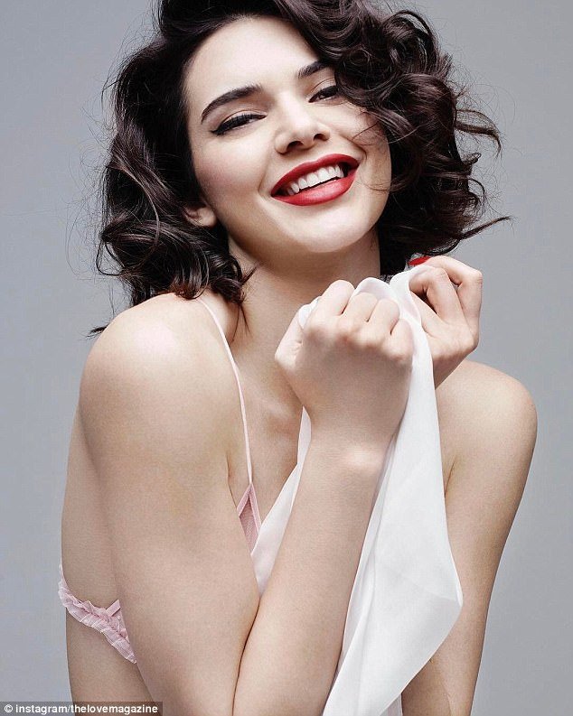 Kendall Jenner goes flirty for LOVE Magazine shoot