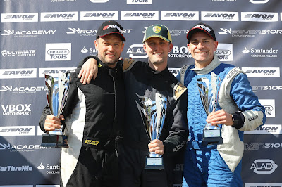 on the podium (from l-r) Dan Halstead (p2), James Murphy (p1), and Me - Daniel French (p3)