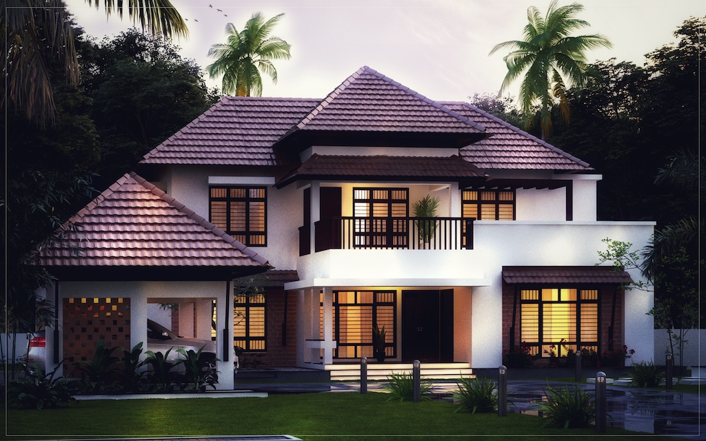2800 sqft 4 bed room residence Forms4 Kerala