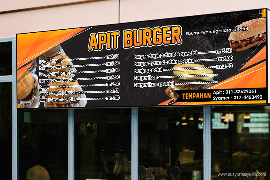 banner kedai makan, banner murah, banting murah, tempah banner murah, banner kedai burger,