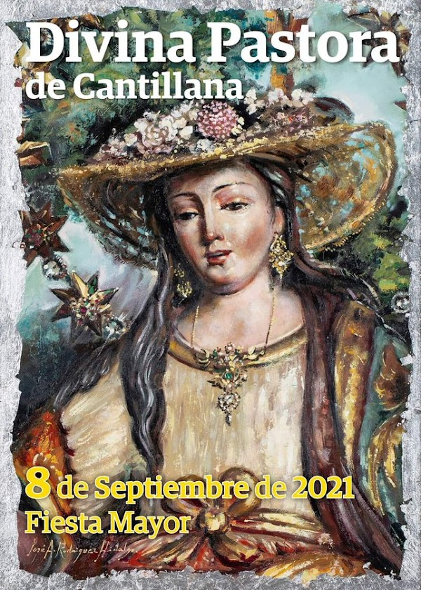Cartel de la Fiesta Mayor de la Divina Pastora de Cantillana 2021
