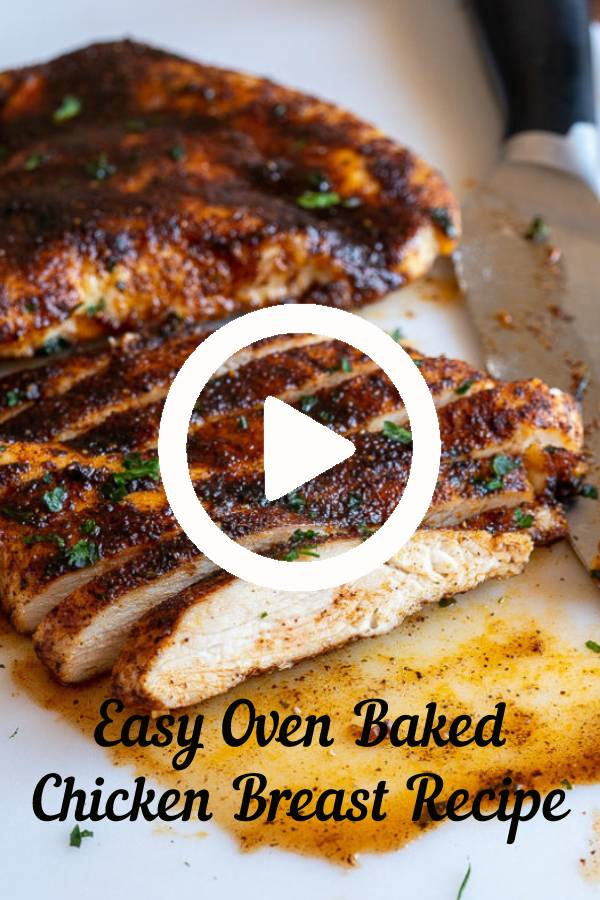 Simple and easy method for how to make perfectly juicy and deliciously seasoned oven baked chicken breasts. #easydinner #chicken #chickenbreast #baked