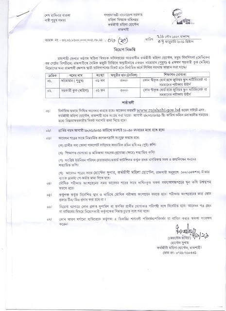 Directorate of Women Affairs Job Circular 2021