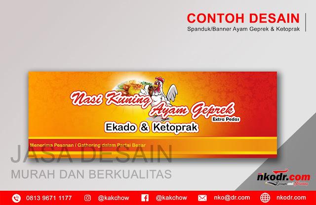 Contoh Desain Banner / Neon Box / Spanduk Ayam Geprek Minimalis