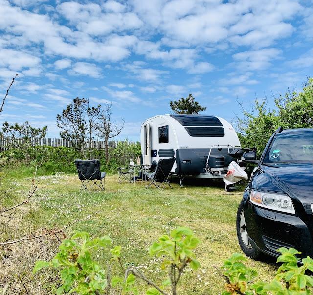 Adria action campingvogn Klitmøller campingplads