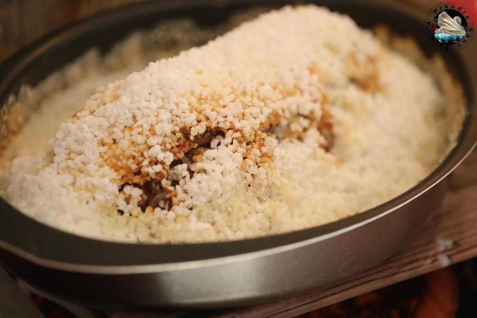 Rôti d'agneau farci en croûte de sel (pas à pas en photos)