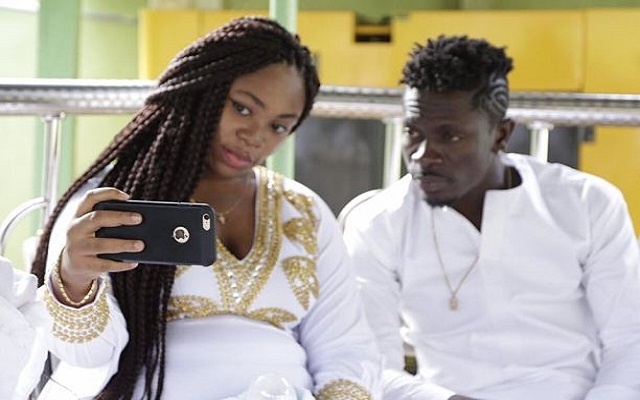 [VIDEO] Shatta spoils wife with customized ride for 'sweet interview'