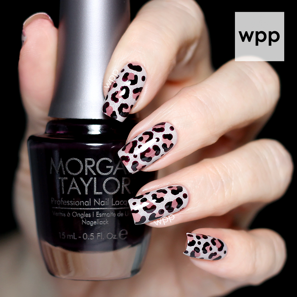 Morgan Taylor Sophisticated Leopard Print Nail Art