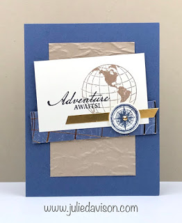 Stampin' Up! Beautiful World Card ~ masculine ~ graduation ~ www.juliedavison.com #stampinup