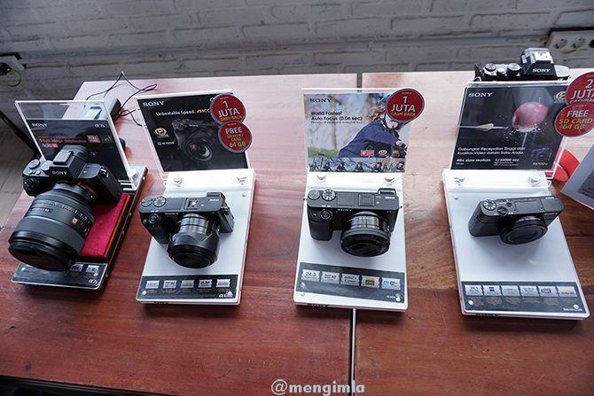 Display berbagai produk dari Sony