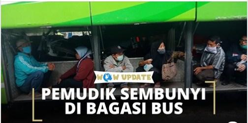 Viral Foto Penumpang Bersembunyi di Bagasi Bus Demi Bisa Mudik ke Kampung Halaman