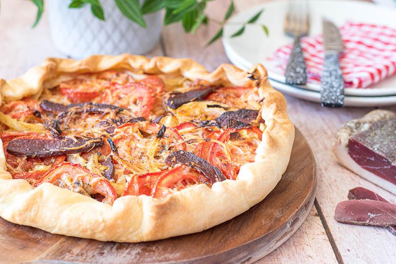 recette Tarte tomates oignon, magret de canard