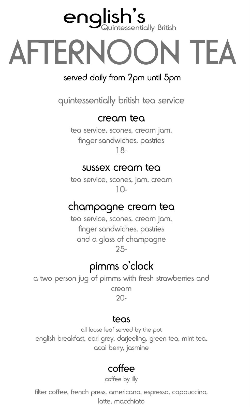 Image Result For Royal Wedding Afternoon Tea Menu