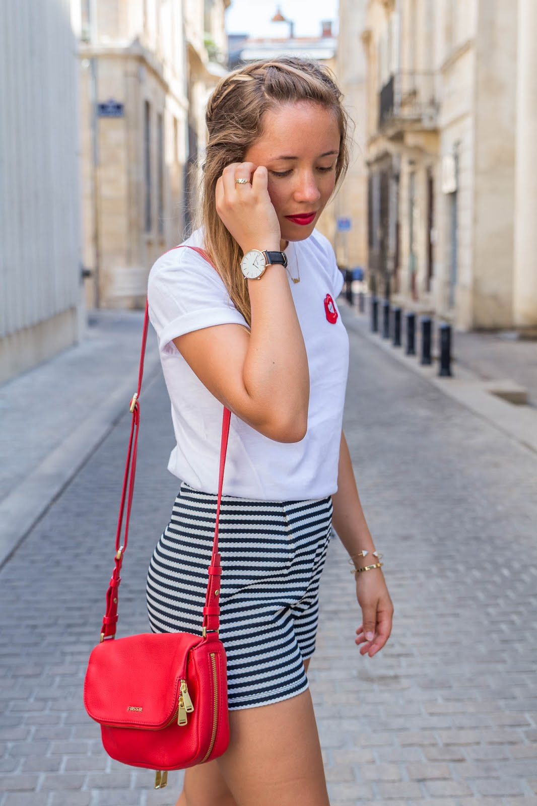 sac à main rouge cuir