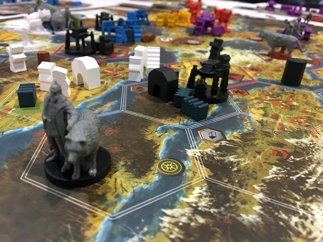 Learning and playing Scythe at SaltCON